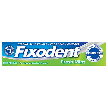 Fixodent Complete Denture Adhesive Cream Fresh Mint