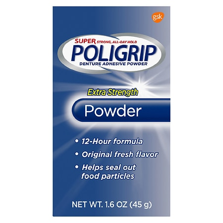 PoliGrip Extra Strength Denture Adhesive Powder - 1.6 oz.
