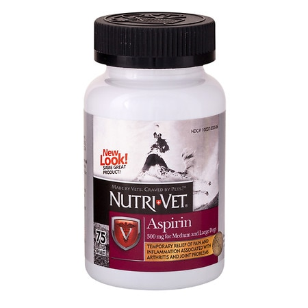 Nutri-Vet Aspirin for Medium / Large Dogs, Chewable Liver