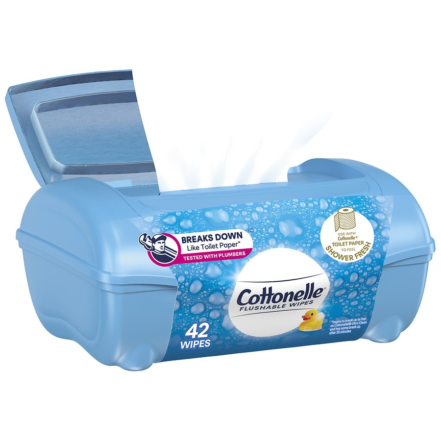 Cottonelle Fresh Care Flushable Moist Wipes Tub Walgreens
