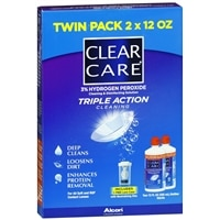 Deals on 2-PK Clear Care Triple Action Cleaning & Disinfecting Solution