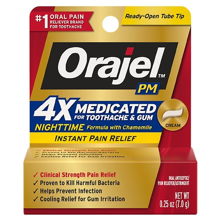 Orajel PM Toothache Pain Relief, Long Lasting Cream