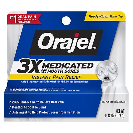 Orajel Oral Pain Reliever Gel for Mouth Sores - 0.42 oz.
