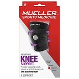 Mueller Sport Care Adjustable Knee Brace, Moderate Support, Model 6441 One Size Black