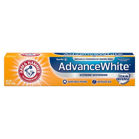 Arm & Hammer Advance White Extreme Whitening Control with Baking Soda & Peroxide, Stain Defense Mint - 6 oz.
