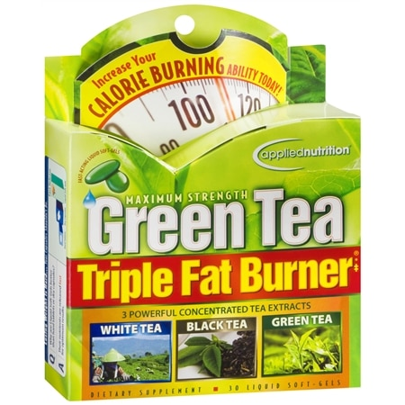 Image of Applied Nutrition Maximum Strength Green Tea Triple Fat Burner, Liquid Soft-Gels - 30 ea