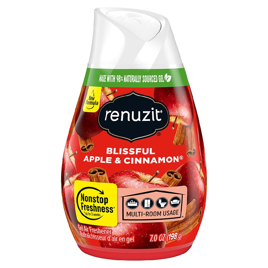 Renuzit - Adjustables Air Freshener, After the Rain Scent, Solid, 7 oz, 12/Carton - Continuous, long-lasting air freshener. Lasts up to 30 days. Allows you to adjust the level of freshening power. Neutralizes even the strongest odors. 97% natural ingredients. Made with 98% biodegradable gel.