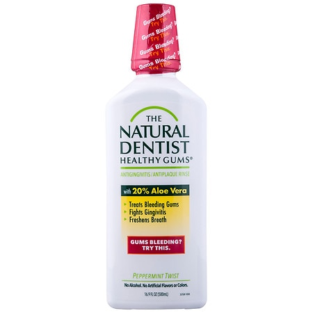 The Natural Dentist Healthy Gums Antigingivitis Rinse Peppermint Twist, Peppermint Twist - 16.9 fl oz