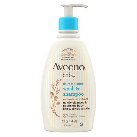 Aveeno Baby Gentle Wash Shampoo With Natural Oat Extract Lightly Scented - 12 fl oz