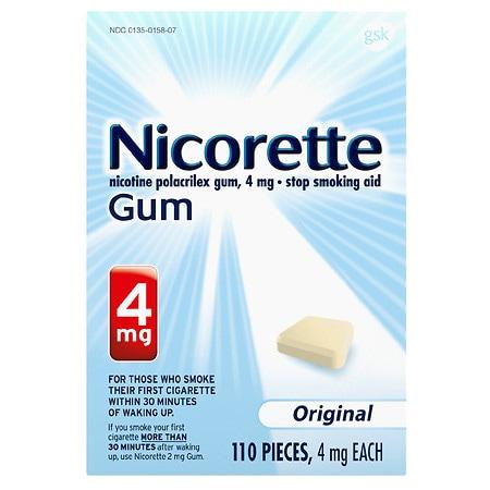 Nicorette Nicotine Gum 4mg Original - 110 ea