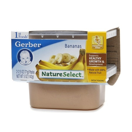 Gerber 1st Foods NatureSelect Baby Food Bananas