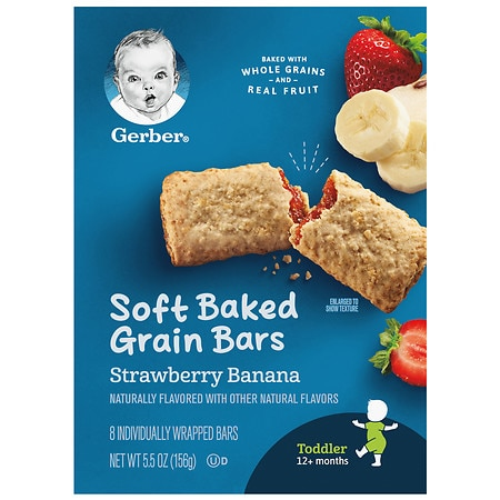 Gerber for Toddlers Cereal Bars Strawberry Banana - 5.5 oz.