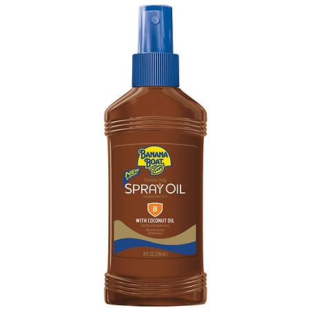 Banana Boat Spray Oil UVA/UVB Protection Sunscreen, SPF 8