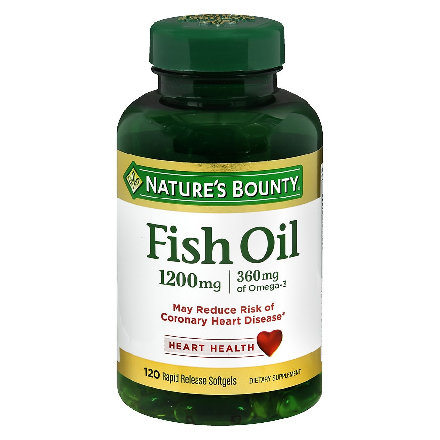 Nature 39 s bounty fish oil 1200 mg dietary supplement for Fish oil pills