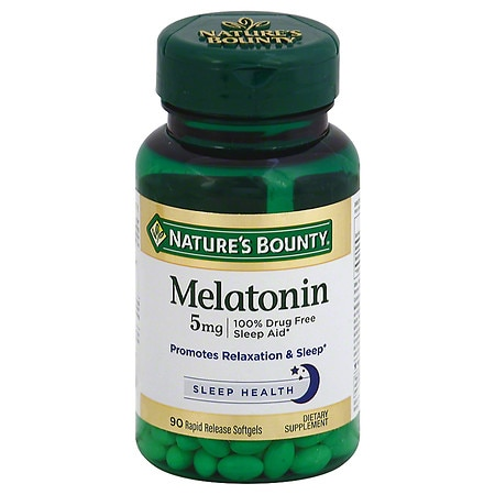 Nature's Bounty Super Strength Melatonin 5 mg Dietary Supplement Softgels