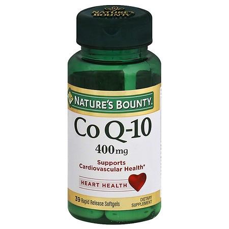 Nature's Bounty Co Q-10 400 mg Rapid Release Dietary Supplement Liquid Softgels - 30 ea