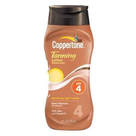 Coppertone Tanning Lotion Sunscreen, SPF 4