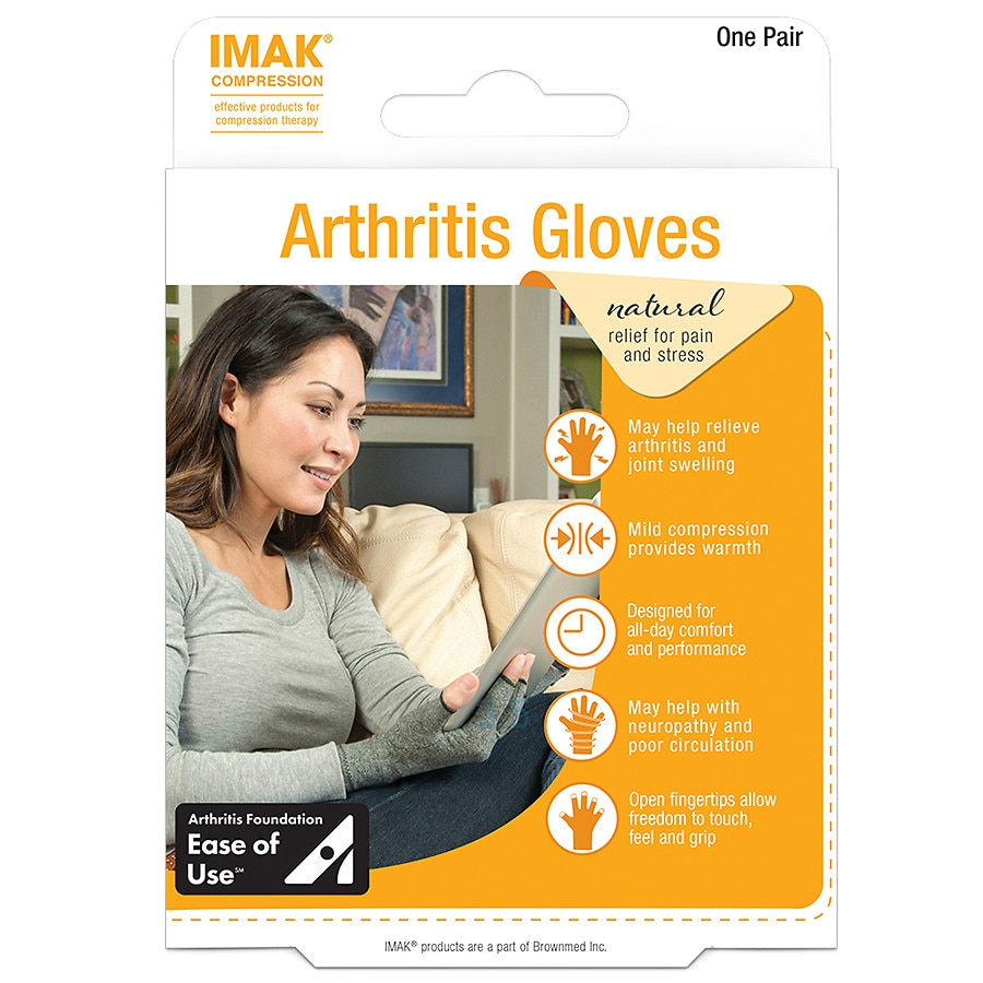 Imak Arthritis Gloves Small Walgreens