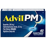 Advil PM Pain Reliever & Nighttime Sleep Aid Coated Caplet, 200mg Ibuprofen