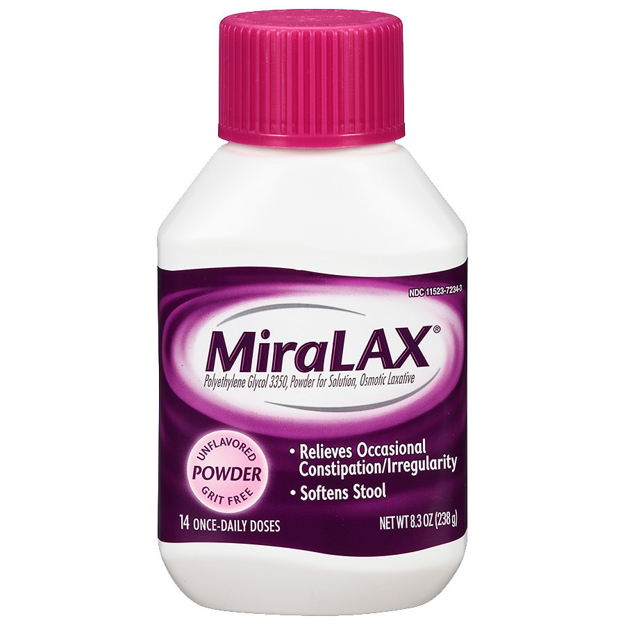 MiraLAX 14 dose powder laxative- Polyethylene Glycol 3350 (PEG 3350)