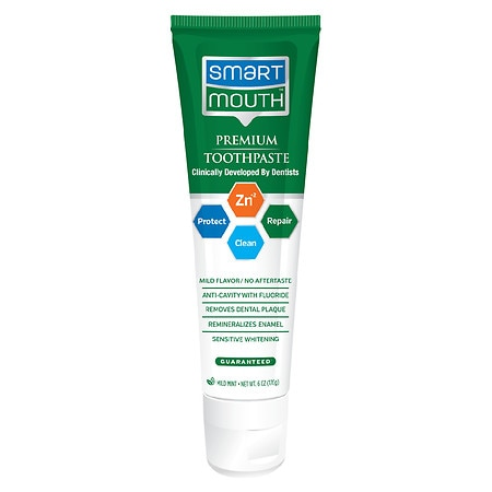 SmartMouth Advanced Clinical Formula 12 Hour Fresh Mouth Toothpaste with Fluoride Mild Mint - 6 oz.