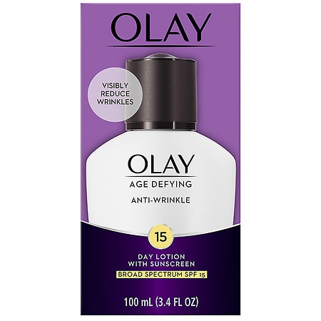 Olay Age Defying Anti-Wrinkle Day Face Lotion with Sunscreen Broad Spectrum SPF 15 - 3.4 oz.