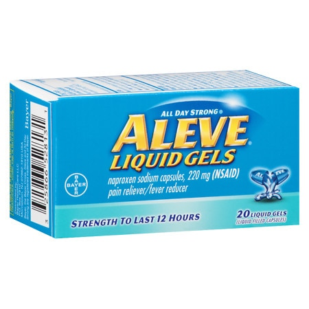 Aleve Pain Reliever/Fever Reducer Liquid Gels