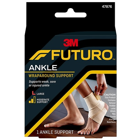 how to put on an ankle support
