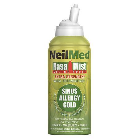 NeilMed Extra Strength NasaMist Saline Nasal Spray Drug Free Nasal Decongestant - 4.2 fl oz