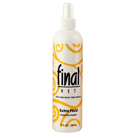 Final Net Unscented All Day Hold Hairspray, Extra Hold