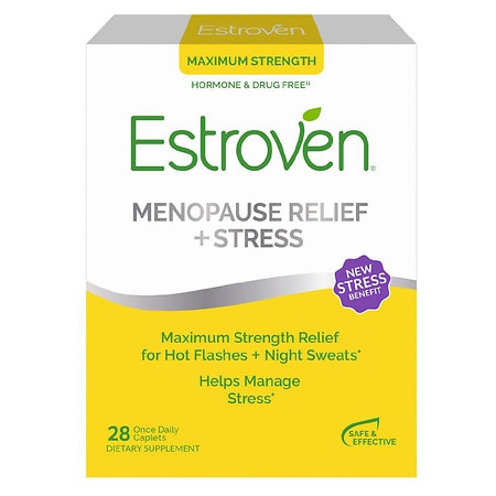 Estroven Menopause Symptom Relief Dietary Supplement Caplets - 28 ea