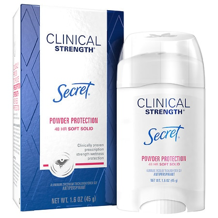 Secret Clinical Strength Smooth Solid Women's Antiperspirant & Deodorant Powder Protection