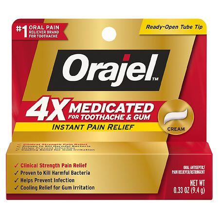 Orajel Severe Toothache Oral Pain Reliever Cream - 0.33 Oz.