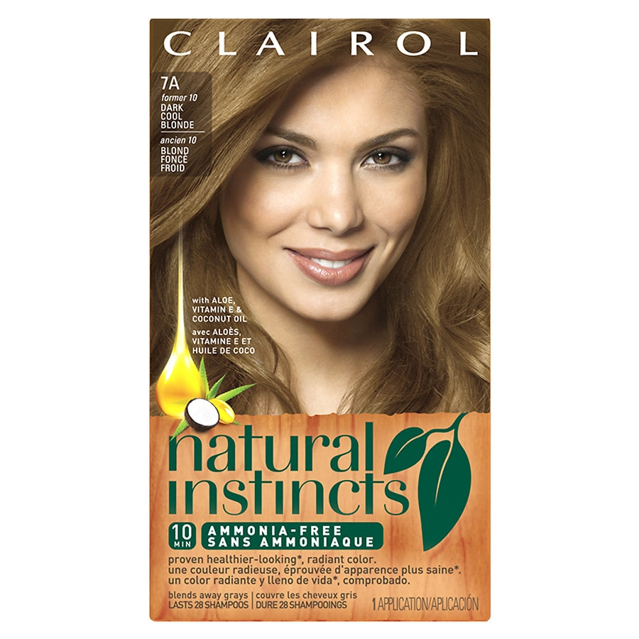 Clairol Natural Instincts Semi Permanent Hair Color 7a 10 Dark Cool Blonde1ea