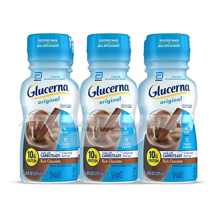Glucerna Nutritional Shakes 6 Pack Rich Chocolate, 6 pk