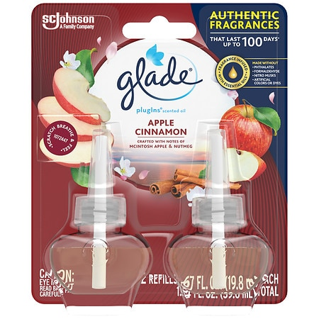 Glade PlugIns Scented Oil Refills Apple Cinnamon
