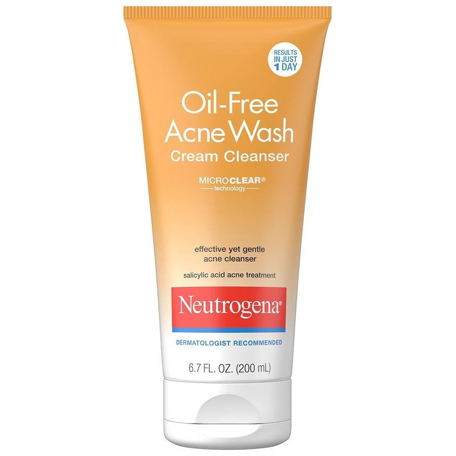 Neutrogena Oil Free Acne Wash Cream Cleanser Walgreens