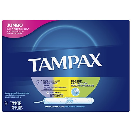 Tampax Cardboard Multipack Tampons, Unscented Unscented, Super/Regular/Lite - 54 ea