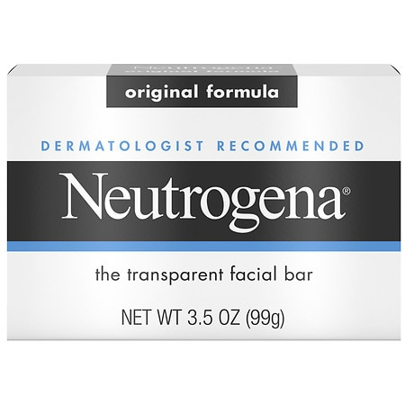 Neutrogena Transparent Facial Bar, Face Wash & Cleanser Original