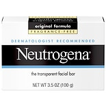 Neutrogena Transparent Facial Bar Soap, Face Wash & Cleanser Fragrance Free, Fragrance Free