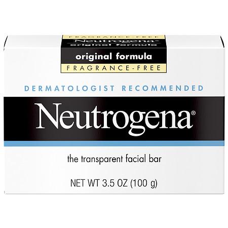 Neutrogena Transparent Facial Bar Soap Face Wash