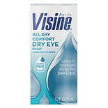 Visine Tears Long Lasting Dry Eye Relief Lubricant Eye Drops