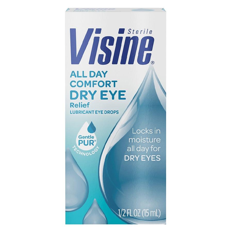 Visine Tears Long Lasting Dry Eye Relief Lubricant Eye Drops Walgreens