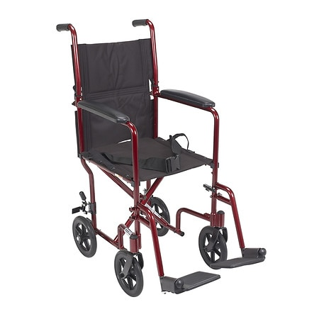 Drive Medical Lightweight Transport Wheelchair 17 Inch - 1 ea
