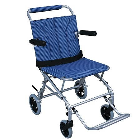 Drive Medical Super Light Folding Transport Wheelchair with Carry Bag 18 Inch
