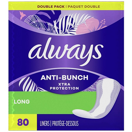 Always Xtra Protection Daily Liners, Long Unscented