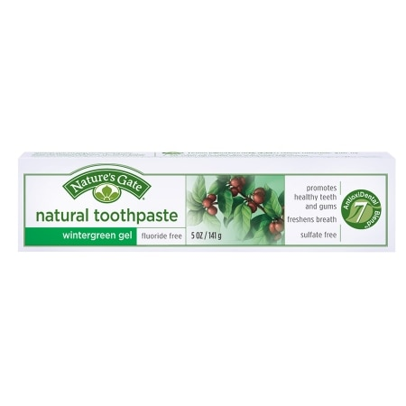 Nature's Gate Natural Fluoride FreeToothpaste Wintergreen Gel