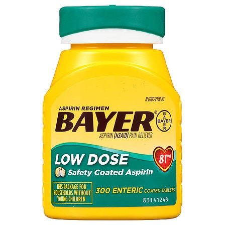 Bayer Aspirin Low Dose, 81 mg Safety Coated Tablets - 200 ea