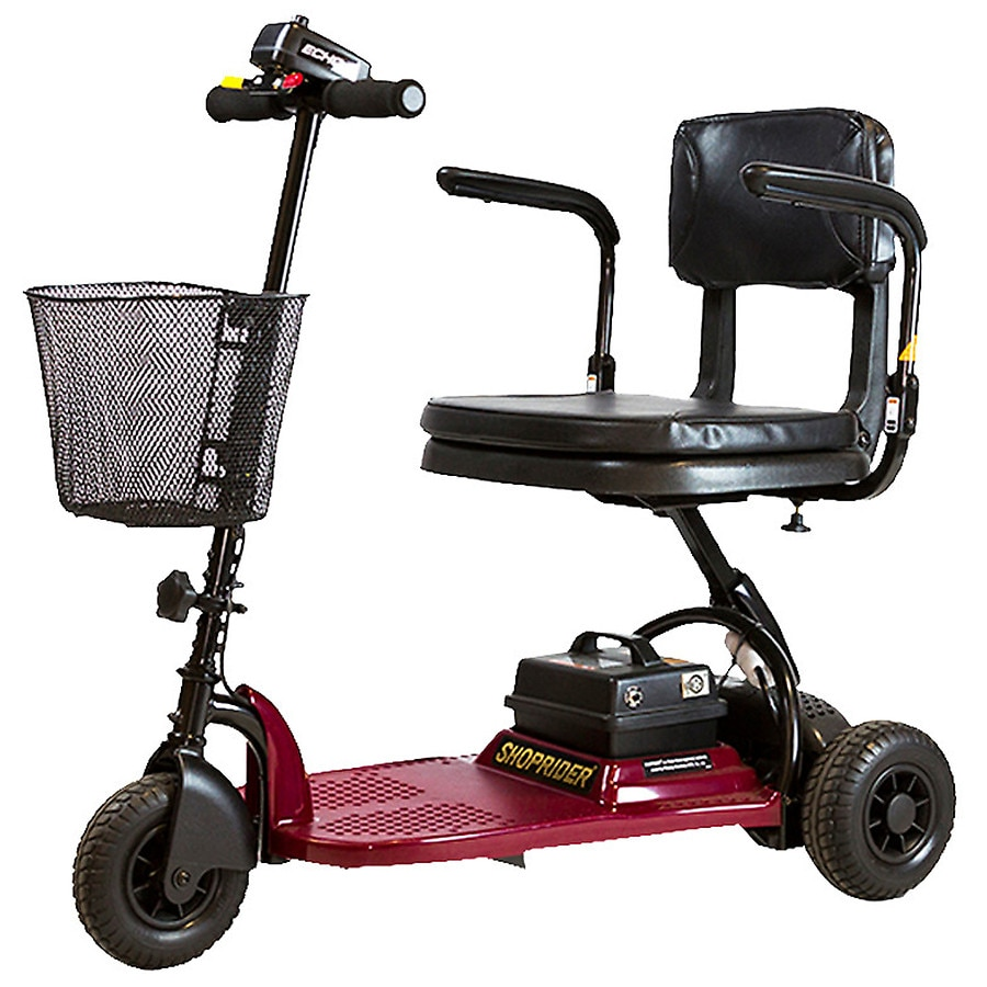 shoprider echo 3 wheel mobility scooter red walgreens. Black Bedroom Furniture Sets. Home Design Ideas