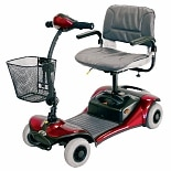 Shoprider Parti 4 Wheel Personal Mobility Scooter Red-Blue-Champagne